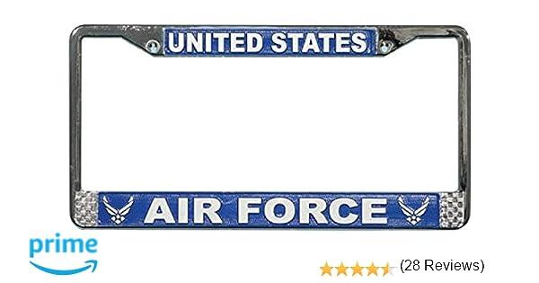 Amazon.com: US Air Force License Plate Frame (Chrome Metal ...