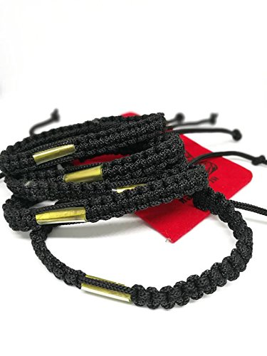 Craft & Lucky Thai Amulet Thai Talisman Black Cotton Authentic Buddhist Wristbands Handmade Bracelet Pack of 5 by Craft & Lucky