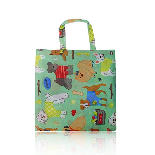 Print Ladies Bag Handbag Nylon Dogs Summer Womens Beach Shopper Tote Bag Green TEWdqwn