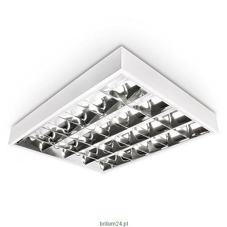 LED Rasterleuchte, LED Einbauleuchte, Rastereinlegeleuchte, LED Bü rolampe, 4x10W T8 LED, Schnellmontage, Deckenleuchte, Bü robeleuchtung (OHNE T8 Leuchtmittel) LumenTEC