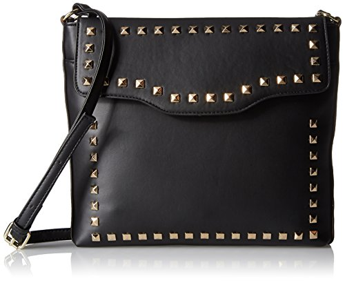 Body Cross Stud (T-Shirt & Jeans Cross Body with Studs, Black)