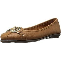 Aerosoles Women's High Bet Ballet Flat, Dark Tan Leather, 12 W US