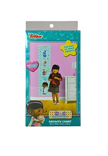 Doc McSTuffins Self-Stick & Removable GROWTH CHART 36 in x 7.875 in -