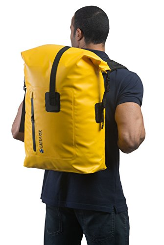e48197a847 Earth Pak Waterproof Backpack  35L   55L Heavy Duty Roll-Top Closure with  Easy