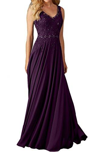 Festkleid Ivydressing Lang Abendkleider Promkleider schleppe Damen A V Linie Spitze Ausschnitt Traube Einfach Ballkleid Yqw1x6RzrY