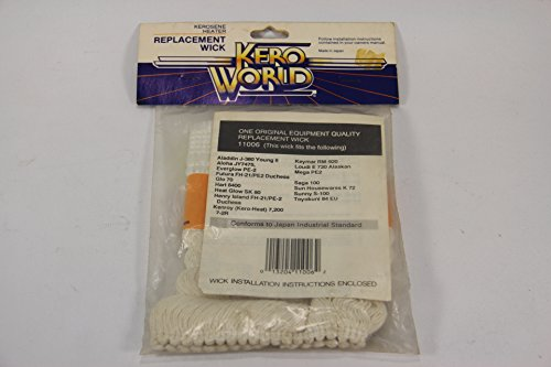 Kero World Wicks - Kero World 11006 Replacement Kerosene Heater Wick, Everglow, Aladdin, Aloha, Sun