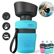 #LightningDeal lesotc Pet Water Bottle for Dogs, Dog Water Bottle Foldable, Dog Travel Water Bottle, Dog Water Dispenser, Lightweight & Convenient for Travel BPA Free 18 OZ.