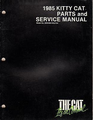 1985 ARCTIC CAT KITTY CAT PARTS & SERVICE MANUAL p/n 2254-312 (243)