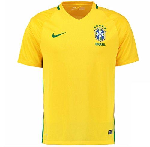 Nike Kid's Brazil Home Stadium Soccer Jersey  Yellow