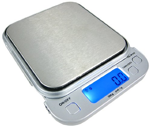 500 Gram Backlit Pocket Scale Pull Out Display Big Tray by U