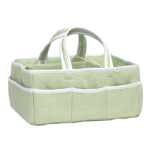 (Trend Lab Gingham Seersucker Storage Caddy, Green)