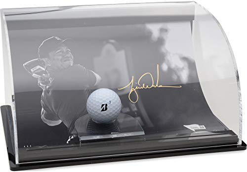 Tiger Woods Autographed Tiger Drive Photograph with Curved Golf Ball Display - Limited Edition of 50 - Upper Deck - Fanatics Authentic Certified