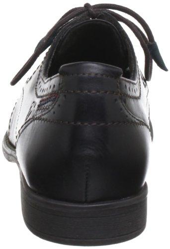 Black Schwarz Negro con cuero de 001 mujer Zapatos Tamaris cordones TAMARIS pqxwz8H