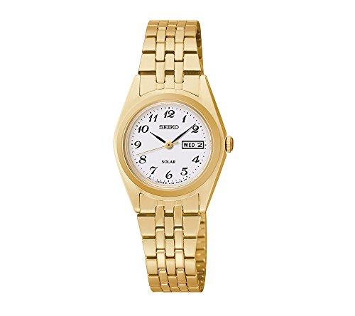 Seiko-Womens-Goldtone-White-Dial-Dress-Calendar-Watch