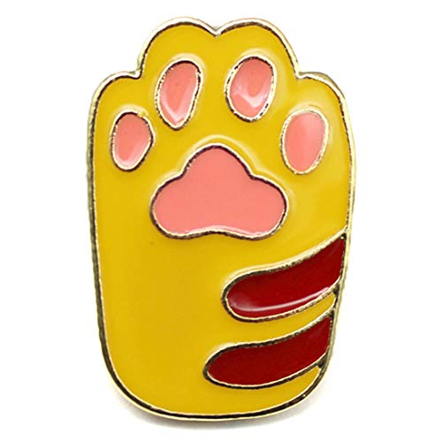 Flairs New York Premium Handmade Enamel Lapel Pin Brooch Badge ([Cat] Ginger Orange Paw, 1 Pin)