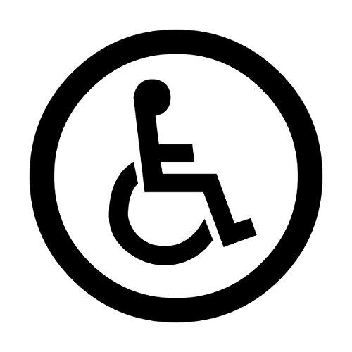 Wild Dingos LLC Handicap Symbol SM Business Vinyl Decal Sticker Black