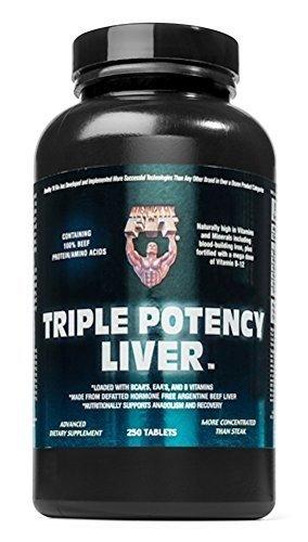 (Healthy 'n Fit Trip Potent Liver 23gr 250t,  Bottle)