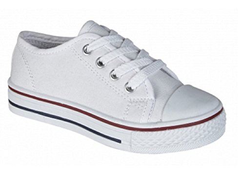 donne Unisex White in Youths lacci con con Casual pompe Summer Men's Secondo le s lacci tela Exqw8a0H