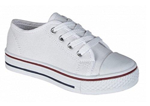 Koo-T - Zapatos de cordones de Lona para mujer Negro negro 746C5EQx