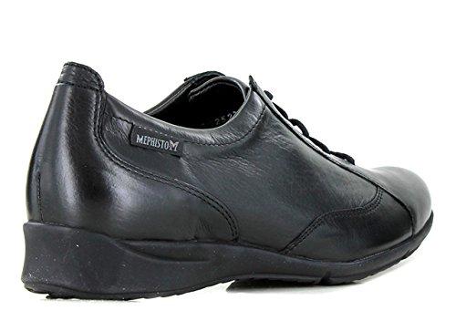 Mephisto - Zapatos de Cordones de Otra Piel Mujer negro