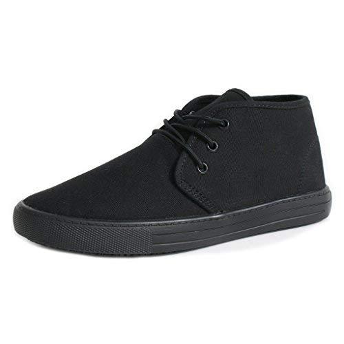 Townforst Cheryl Slip Resistant Black Sunbrella Mid Top Water Resistant Non Slip Waitress Shoes (9.5)