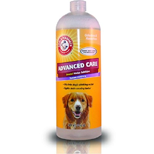 Arm & Hammer Clinical Pet Care Gum Health Dental Water Additive for Dogs | Soothes Inflamed Gums, 27 ounces, Odorless and Flavorless by Arm & Hammer