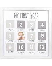 Pearhead First Year Photo Frame, White