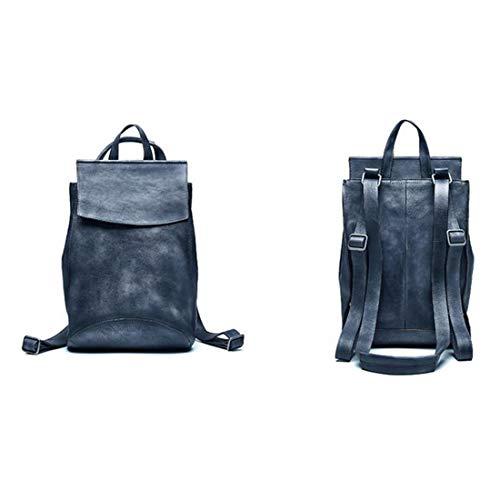 Laptop Dark Vintage Gray Yy1 Handcrafted Backpack Leather Bookbag Real School Daypack College Para Rucksack Kunliyin Hombres xXBwqw