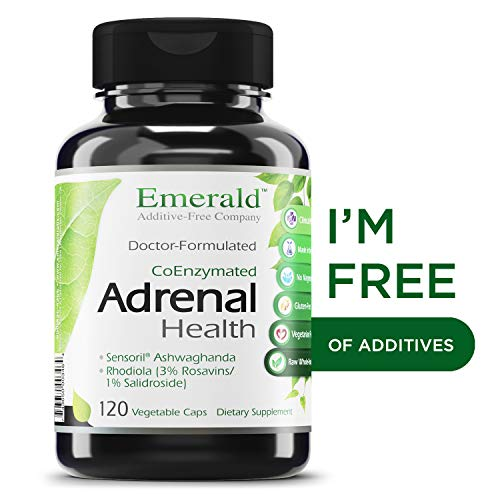 Adrenal Health - with Sensoril ® Ashwagandha for Improved Energy Levels, Sleep Support, Stress Relief, & Promotes Mental Clarity - Emerald Laboratories- 120 Vegetable Capsules