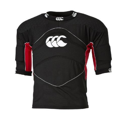 Canterbury Flexi Top Shoulder Vest, Black/Scarlet, Medium ()