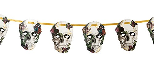 Talking Tables Halloween Décor | Day Of The Dead Decorations Baroque Garland | Great For Halloween Party, Sugar Skull Party, Day Of The Dead Party | Paper, 10FT]()