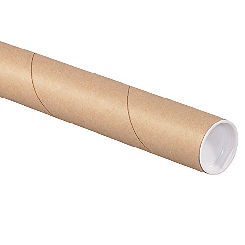 4'' x 36'' Kraft Mailing Tubes with Caps (5 Tubes) by RetailSource