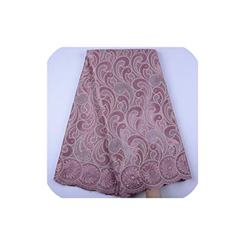 African Dry Lace Fabric Swiss Voile with Stones Swiss Cotton Lace Swiss Lace Fabrics for Wedding Dress,As Picture