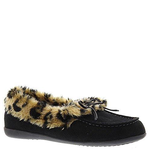 VIONIC Womens Cozy Juniper Moccasin Black Loafer