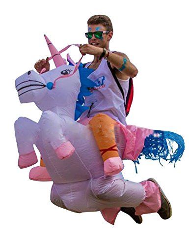 THEE Adult Inflatable Unicorn Rider Costume for Halloween -