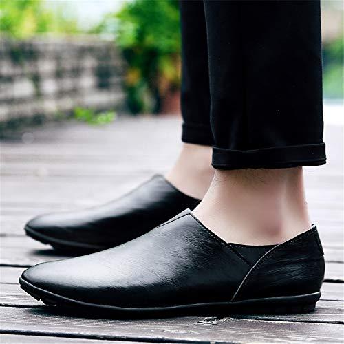 Zapatos 44 Lazy Y Confort black Oficina Primavera Para De Suave Carrera Gpf Nuevos Conducción Slip Hombre fei Suela Negocios Formal ons Cuero Mocasines x54qnpwB7