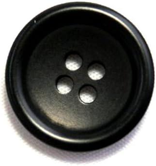 ナットボタン538(COLOR.09ブラック) 20mm 紳士服スーツジャケットボタン