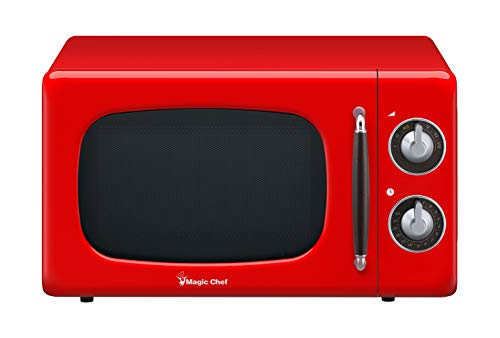 (Magic Chef MCD770CR 0.7-Cu. Ft. 700W Retro Countertop Microwave Oven in Red.7 Cu.Ft,)