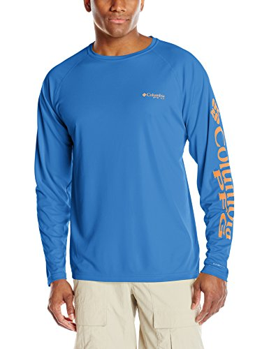 Columbia Sportswear Men's Terminal Tackle Long Sleeve Shirt, Vivid Blue/Jupiter Logo, XX-Large
