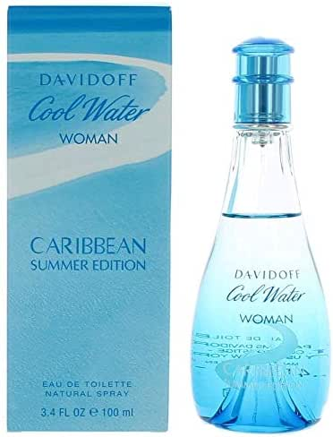 Cool Water Caribbean Summer by Dävídöff for Women Eau De Toilette Spray 3.4 oz