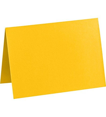 Correspondence Cards Casual (A6 Folded Card (4 5/8 x 6 1/4) - Sunflower (50Qty) | Perfect for Personal Stationery, Invitation Suite Inserts, Casual Correspondence and much more! | EX5030-12-50)