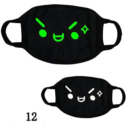 Danhjin Novel Cool Luminous Unisex Cotton Blend Anti Dust Face Mouth Mask Luminous Mask for Man -