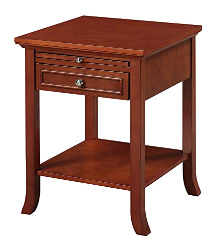 Convenience Concepts American Heritage Logan End Table with Drawer and Slide, Cherry