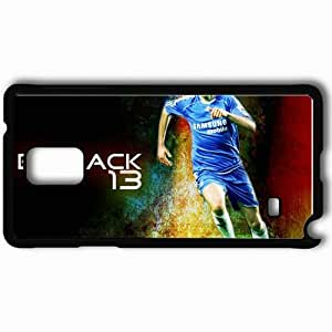 Personalized Samsung Note 4 Cell phone Case/Cover Skin 1 Michael Ballack Football Black