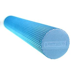 90 x 15cm Eva Physio Yoga Roller Foam Ab Pilates Exercise Back Home Gym Massage - Blue