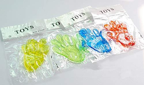 JSPOYOU 5Pcs Kids Sticky Hands Palm Party Favor Toys Novelties Prizes Birthday Gift