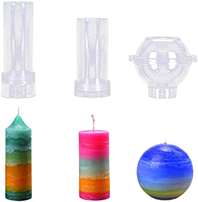 Round Sphere Ball Shape Candle Mould Mold for Candle Making C