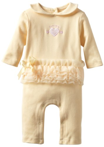 Babyworks Baby-Girls Newborn Mesh Trim Sweetheart Coverall