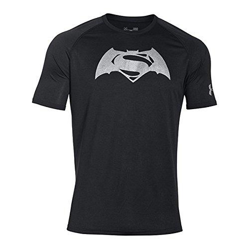 Under Armour Superman Vs Batman SS T Maglietta a maniche corte, uomo, UOMO, SUPERMAN VS BATMAN SS T, nero