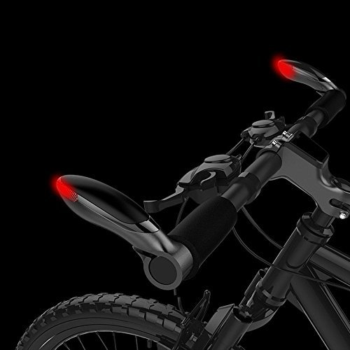 - PRUNUS LED Biking Handlebar Ends, Waterproof, 1 Year Standby Time and Long Battery Life, with The Function of Turning Signal Indication, Warning, Reminding Others of Your Riding Range.